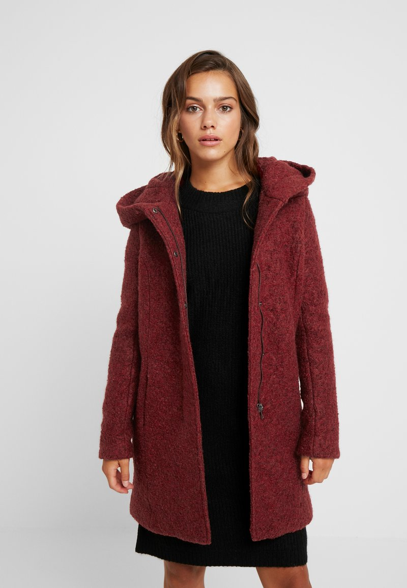 ONLY Petite - ONLSEDONA COAT - Short coat - merlot/melange