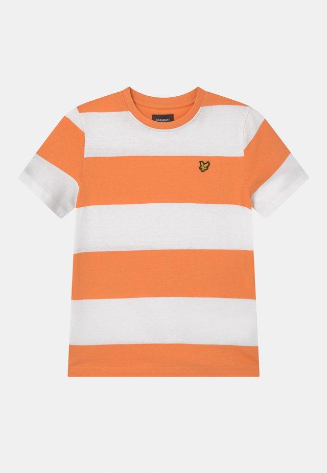 WIDE STRIPE - T-shirt print - pumpkin
