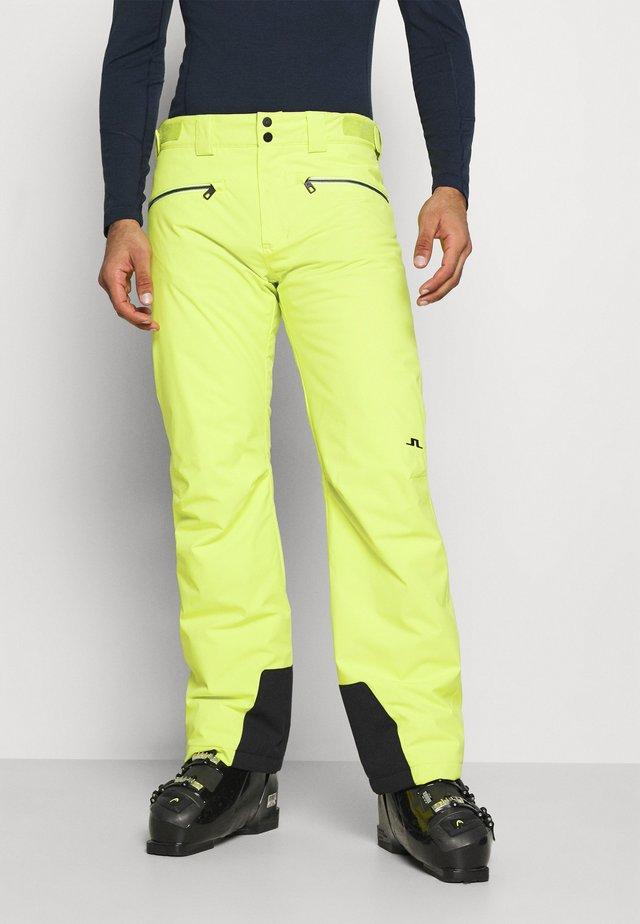 TRUULI SKI PANT - Snow pants - leaf yellow