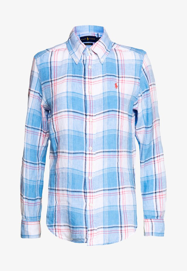 GEORGIA CLASSIC LONG SLEEVE - Button-down blouse - blue/red/white