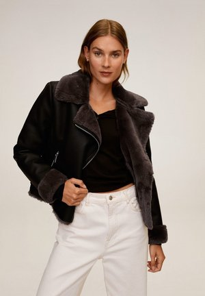 CADI - Leather jacket - schwarz