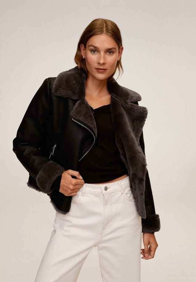 CADI - Leather jacket - schwarz
