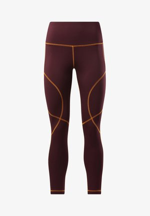MYT CONTRAST STITCH LEGGINGS - Tights - burgundy
