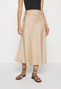MYRA SKIRT - Maxi skirt - sand