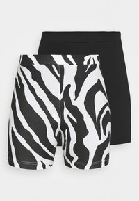 Monki - ELLA BIKERS 2 PACK - Shorts - black - 0