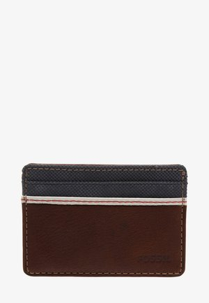 ELGIN - Business card holder - brown
