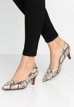 Classic heels - taupe/snake-optik