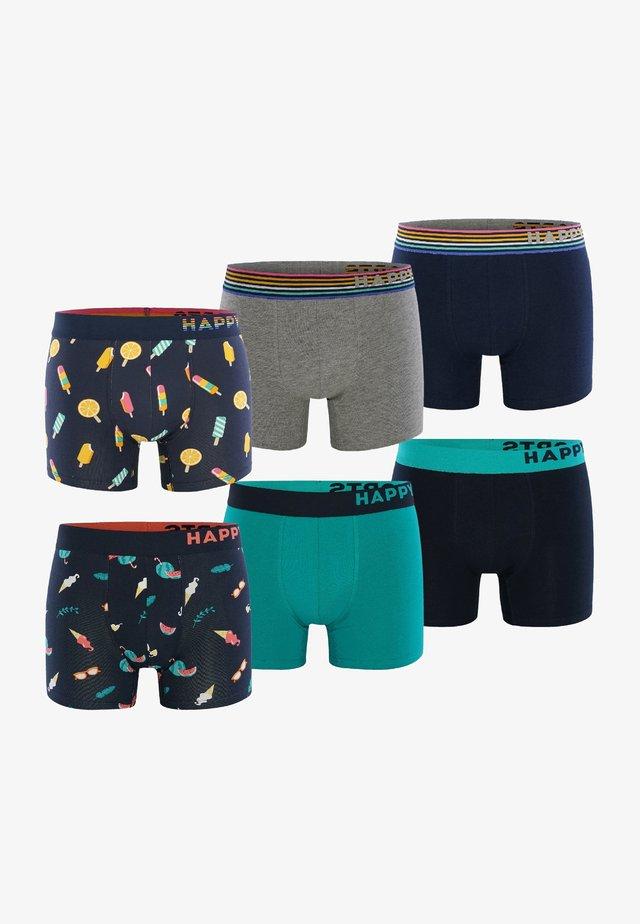 6 PACK - Pants - dunkelblau/grau