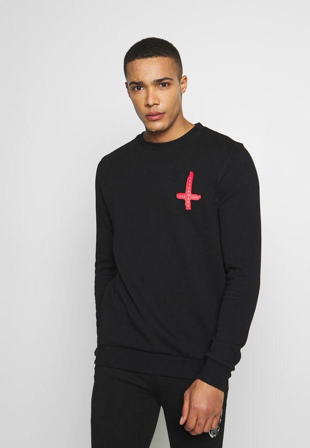 PAINTED CROSS  - Sweater - black
