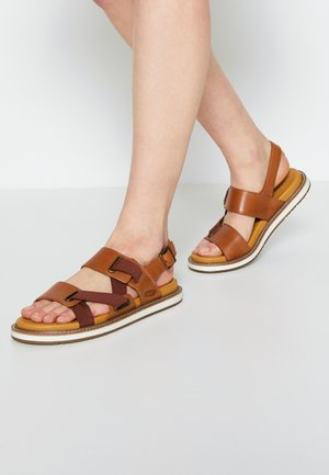 LANA Z-STRAP - Walking sandals - tortoise shell/silver birch