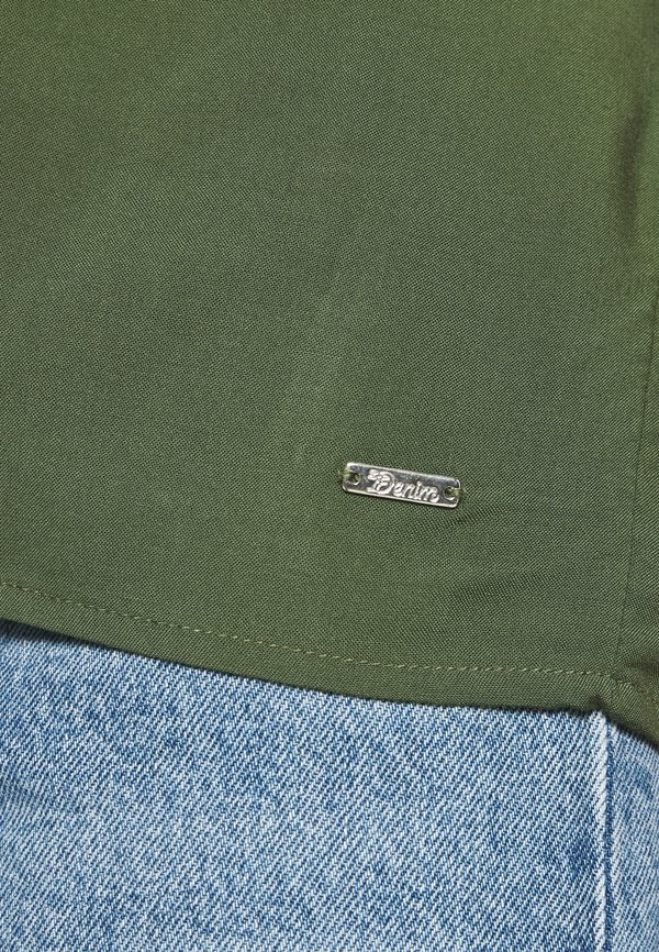 TOM TAILOR DENIM WITH BACK DETAIL - Bluzka - dusty rifle green Kolor jednolity Odzież Damska BXWG IV 6