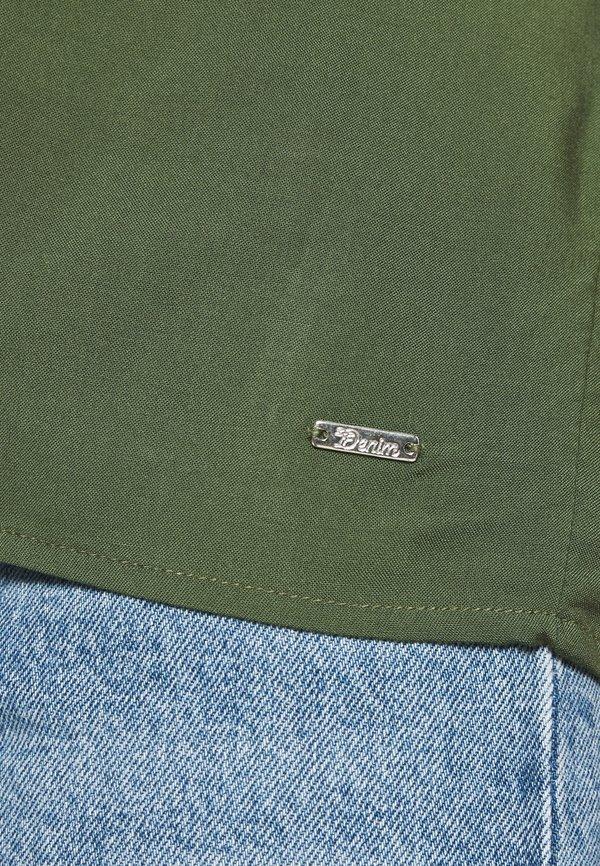 TOM TAILOR DENIM WITH BACK DETAIL - Bluzka - dusty rifle green Kolor jednolity Odzież Damska BXWG IV 6