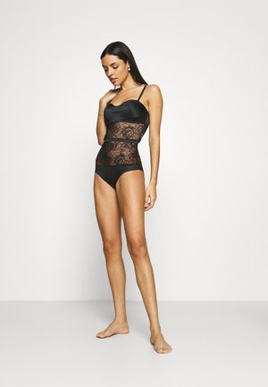 BLOOM FLORAL BODYSUIT - Body - black