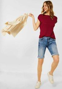 Street One - IM LEINEN LOOK - Basic T-shirt - rot - 1