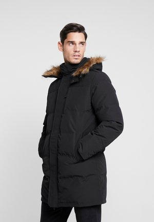 LONG QUILTED - Down coat - true black