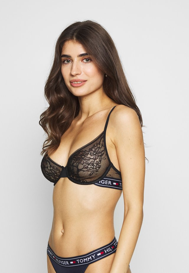 AUTHENTIC PLUNGE BRA - Underwired bra - black