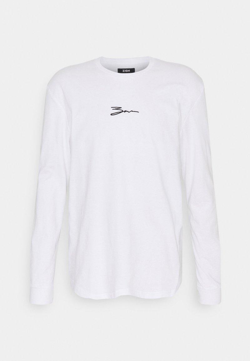Zign - UNISEX - Top sdlouhým rukávem - white