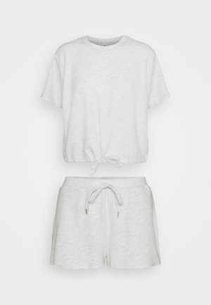 SUPER SOFT DRAW CORD TEE SHORT SET - Pyjama set - soft grey marle