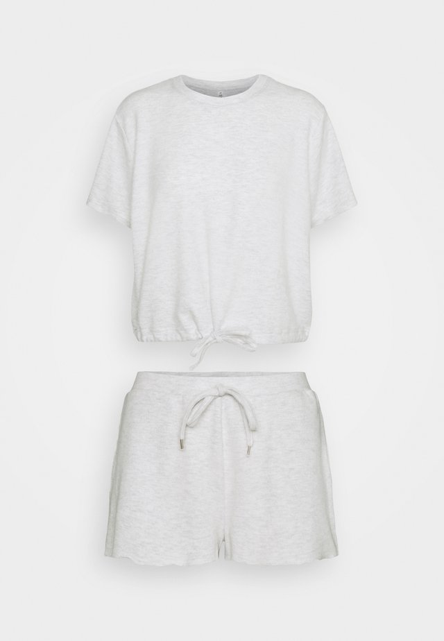 SUPER SOFT DRAW CORD TEE SHORT SET - Pyjama - soft grey marle