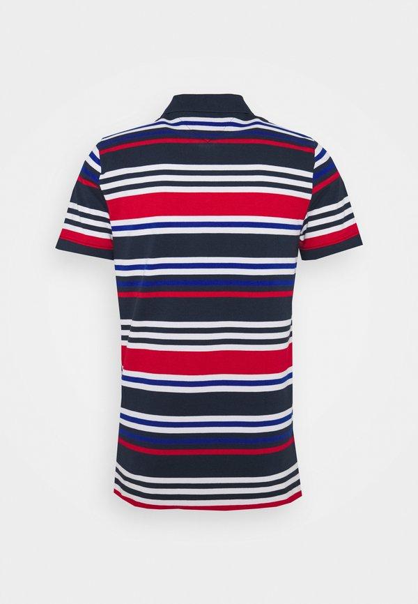 Tommy Jeans SEASONAL STRIPE - Koszulka polo - blue/granatowy Odzież Męska RLVV