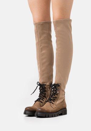 SAURA - Šněrovací vysoké boty - marvin/gamo stone/moma