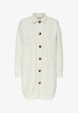 JDYSLAM WORKER POCKET - Button-down blouse - oatmeal
