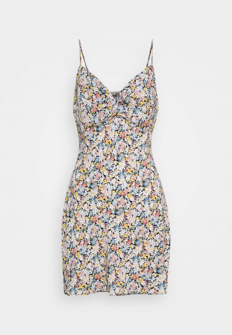 Abercrombie & Fitch - CHASE TWIST FRONT SHORT SLIP - Day dress - white
