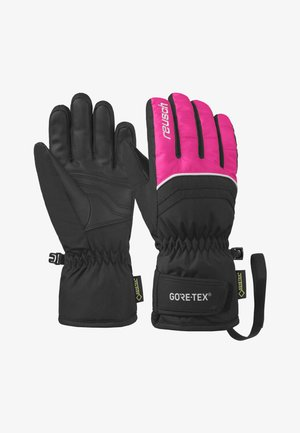 TOMMY - Gloves -  black/pink glo