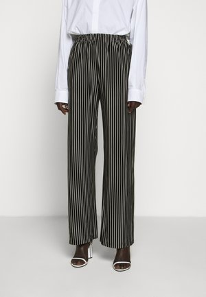 STRIPE TROUSER - Trousers - black/white