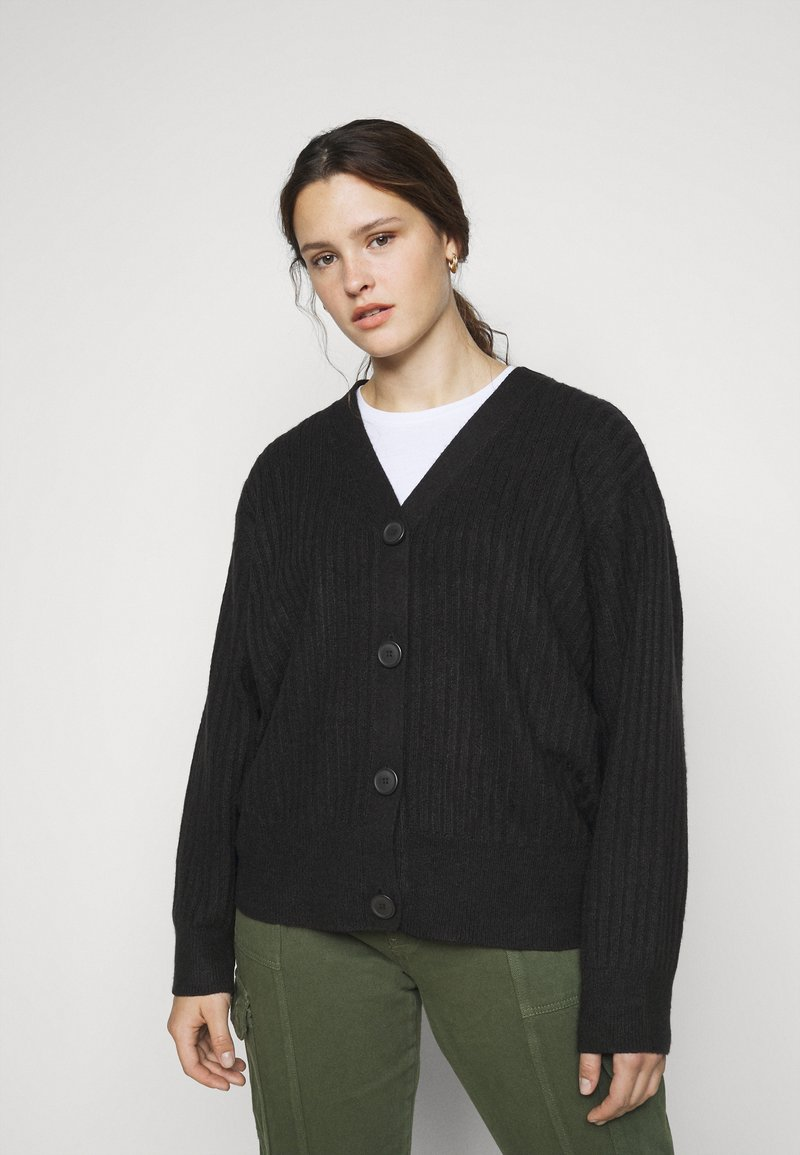 New Look Curves - CARDIGAN - Cardigan - black