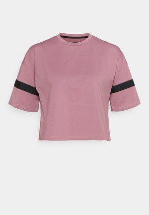 Print T-shirt - mauve