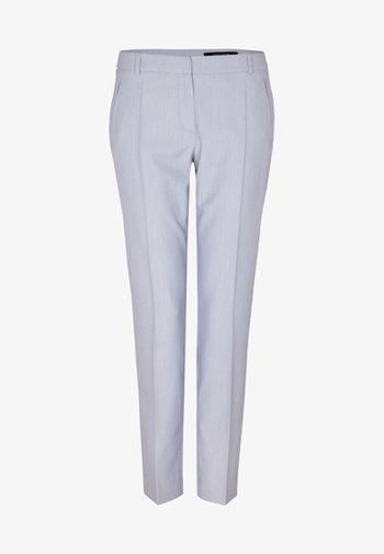 MIT BÜGELFALTEN - Trousers - light blue melange