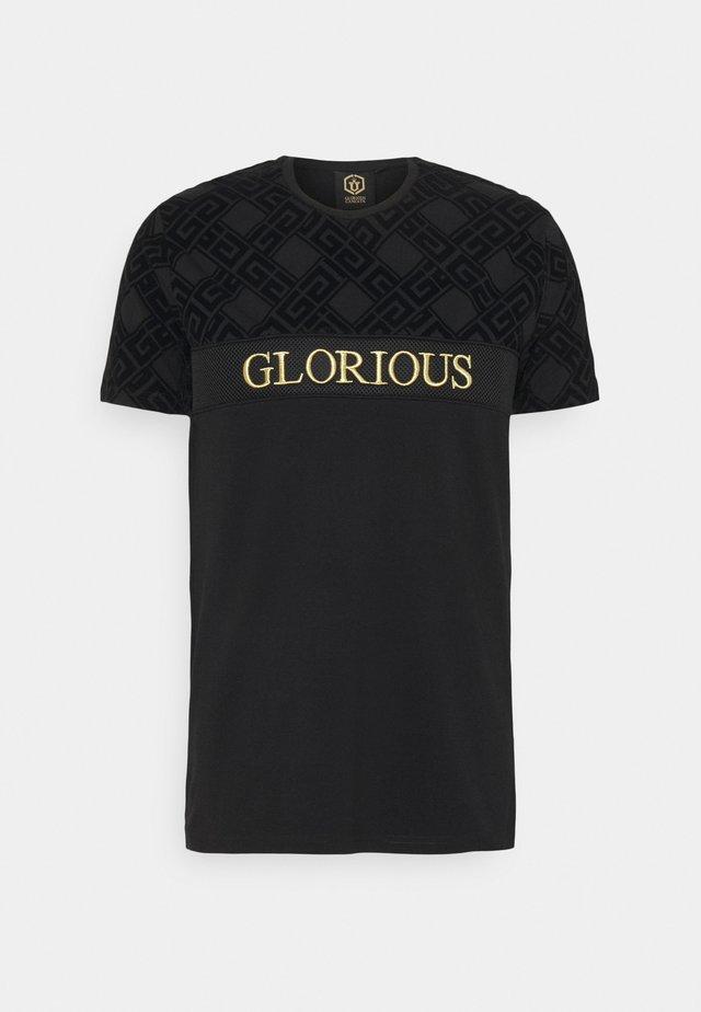 HERVOS TEE - T-shirt con stampa - jet black
