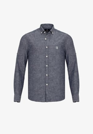 MIT LOGO-STICKEREI - Shirt - dunkelblau