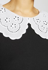 Dorothy Perkins - EMBROIDERED COLLAR TEXTURED - Blouse - black - 5