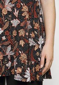 Evans - FLORAL FRILL SHORT SLEEVE TUNIC - Print T-shirt - multi-coloured - 6