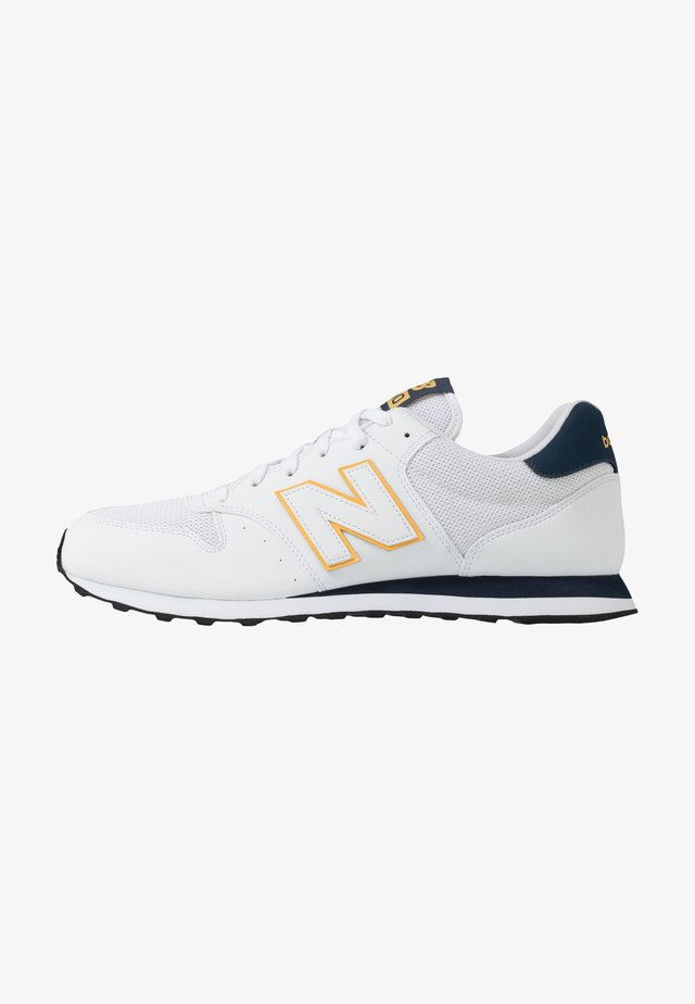 GM500 - Sneakersy niskie - white/yellow/navy