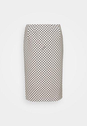 Pencil skirt - burro/nero