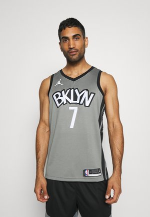 NBA BROOKLYN NETS SWINGMAN JERSEY - Club wear - dark steel grey/black