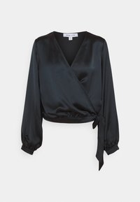 NU-IN - WRAP BALLOON SLEEVE - Blouse - black - 0