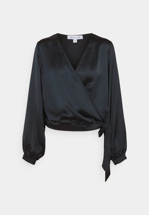 WRAP BALLOON SLEEVE - Blouse - black