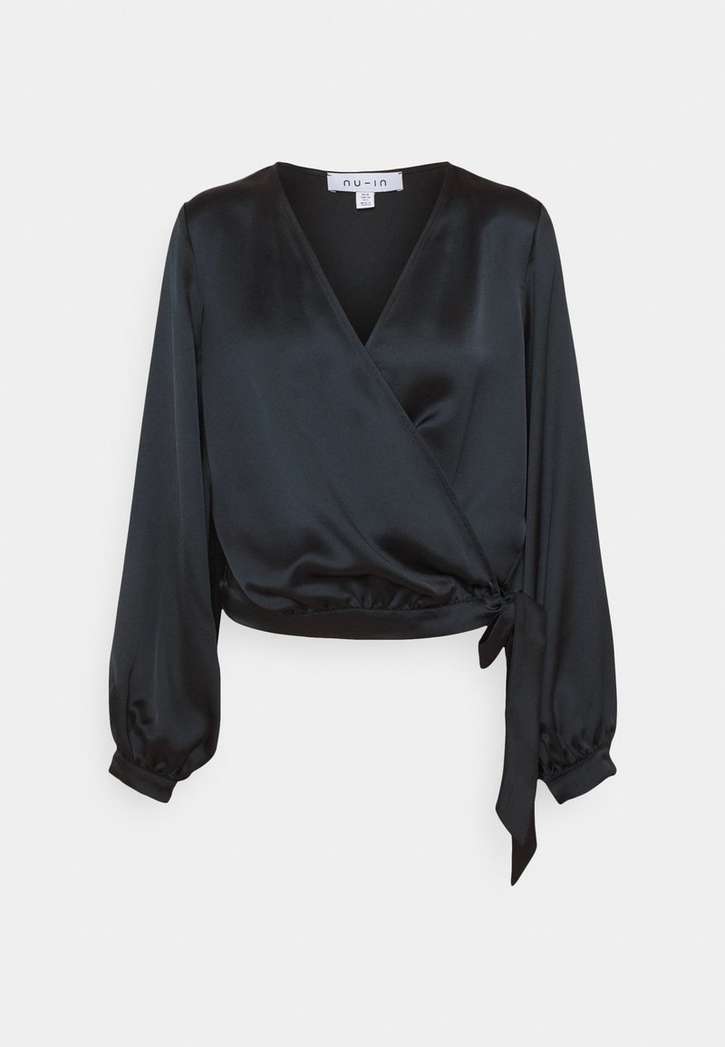 NU-IN - WRAP BALLOON SLEEVE - Blouse - black