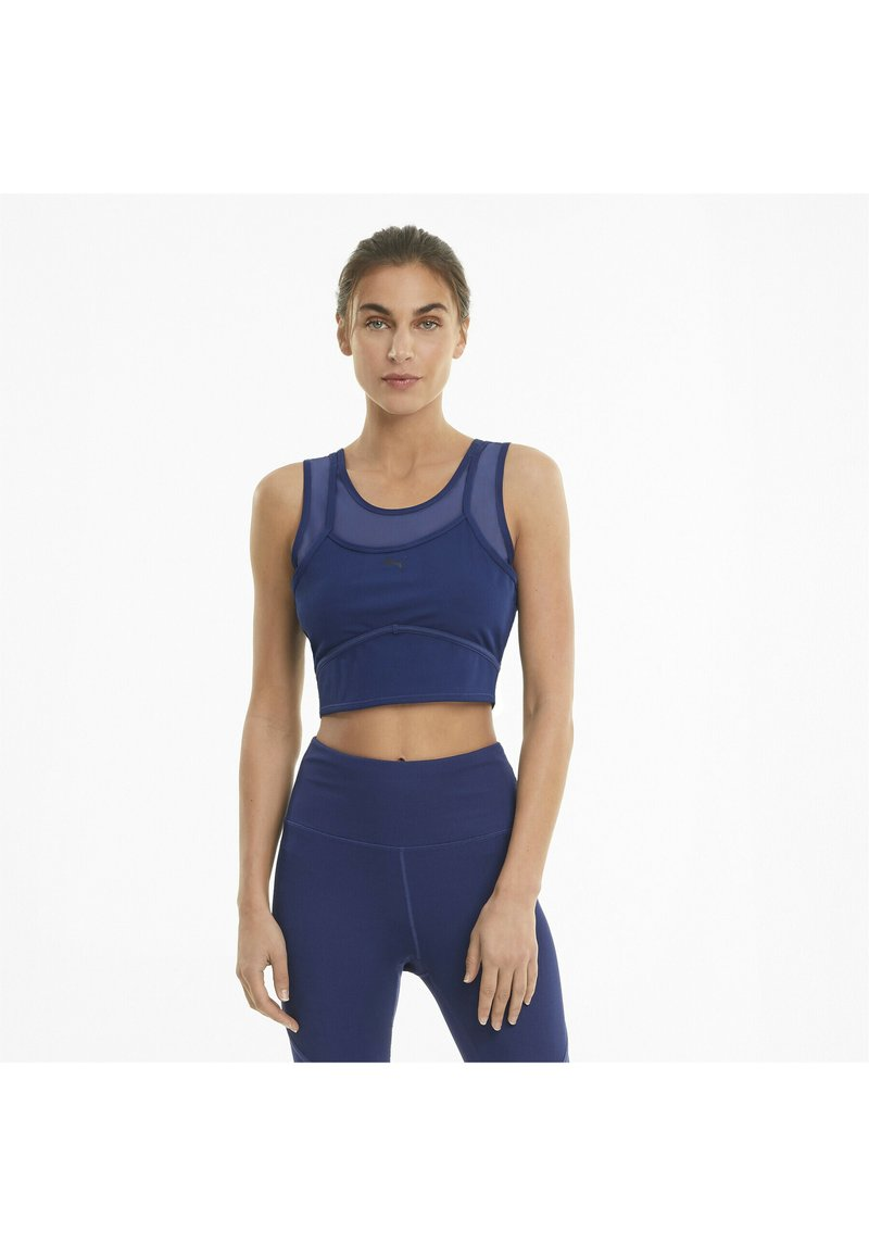 Puma - STUDIO LAYERED CROP  - Top - elektro blue