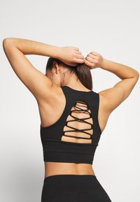 Good American - CRISS CROSS CROP TOP - Top - black - 3