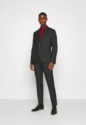 CHECK SUIT SET - Traje - grey