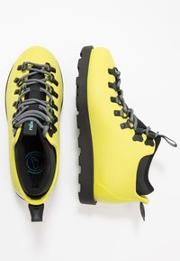 Native - FITZSIMMONS CITYLITE - Lace-up ankle boots - safety yellow/ jiffy black - 1