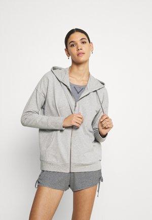 HOODY - veste en sweat zippée - grau meliert