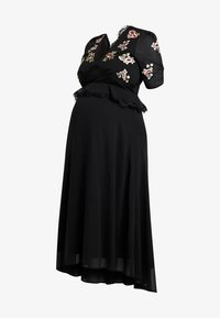 Hope & Ivy Maternity - EMBROIDERED MIDI DRESS - Day dress - black - 4
