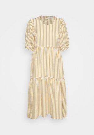 STRIPE PUFF SLEEVE DRESS - Kjole - cream/mango