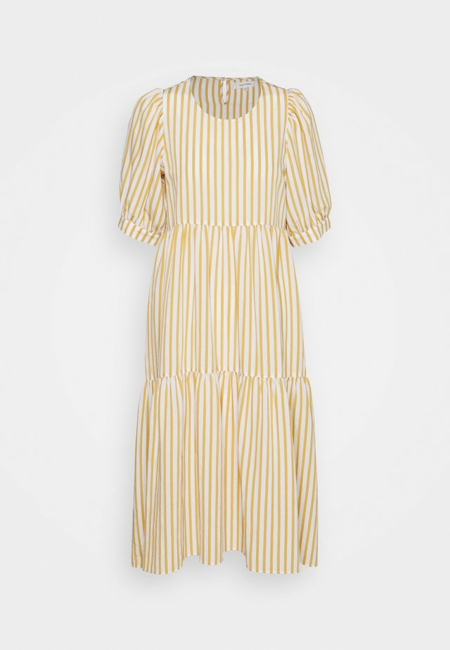 STRIPE PUFF SLEEVE DRESS - Hverdagskjoler - cream/mango